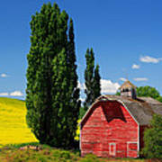 Palouse Weathered Barn Poster