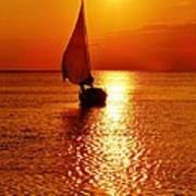 Pamlico Sound Sunset 3 7/26 Poster