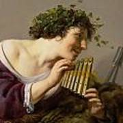 Pan Playing His Pipes Poster by Paulus Moreelse