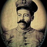 Pancho Villa In Military Uniform Drawing No  Date-2013  Poster