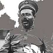 Pancho Villa  Portrait In Military Uniform No Location Or Date-2013 Poster