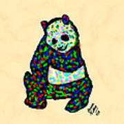 Panda A La Fauvism Poster
