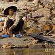Panning For Gold Mekong River 1 Poster