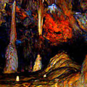 Pano Of A Colorful Cave Poster