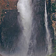 Panorama Angel Falls In Canaima National Park Venezuela Poster