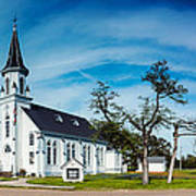 Panorama Of Sts. Cyril And Methodius Catholic Church - Dubina Texas Poster