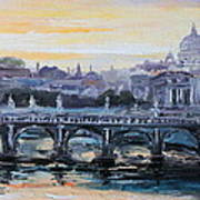 Panorama Of Rome Poster