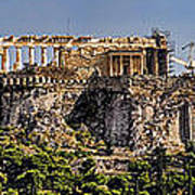 Panorama Of The Acropolis In Athens Poster