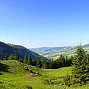 Panorama Of The Appenzeller Hills Near Mount Saentis Switzerland Poster