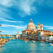 Panorama Of The Basilica Santa Maria Della Salute Poster