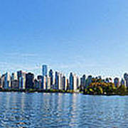Panorama Of Vancouver Harbor Poster by Jodi Jacobson