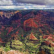 Panorama Of Waimea Canyon Hawaii Poster by David Smith