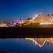 Panorama - Santa Cruz Boardwalk Poster