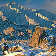 Panorama Snow Covers The Alabama Hills Poster