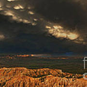 Panorama Storm Clouds Over Bryce Canyon National Park Utah Poster