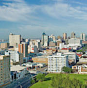 Panoramic Aerial View Of Durban, South Poster