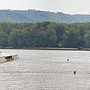 Panoramic Barge Poster