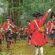 Panoramic Battle Of Bushy Run Poster