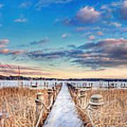 Panoramic Crooked Lake Poster