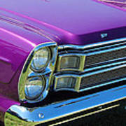 panoramic Ford Galaxie Poster