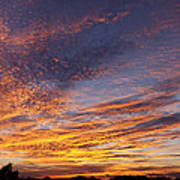 Panoramic Hill Country Sunset Poster