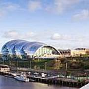 Panoramic Of Newcastle And Gateshead Quayside Poster