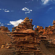 Panoramic Sunset Light On Sandstone Formations Fantasy Canyon  Poster