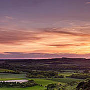 Panoramic Sunset Over England Poster