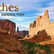 Panoramic View Of Arches National Park  Poster
