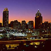 Panoramic View Of Atlanta Skyline Poster