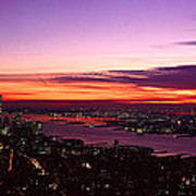 Panoramic View Of Empire State Poster