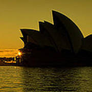 Panoramic View Of Sunrise At Sydney Opera House Poster