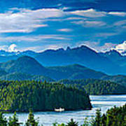 Panoramic View Of Tofino Vancouver Island Canada Poster