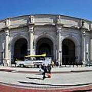 panoramic View of Union station in Washington DC Poster