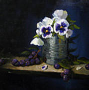 Pansies In A Tin Can Poster