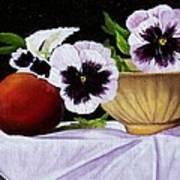 Pansies In Bowl Poster
