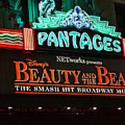 Pantages Theather Marquie Poster