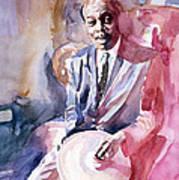Papa Jo Jones Jazz Drummer Poster by David Lloyd Glover