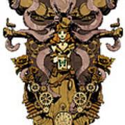 Papillon Mecaniques Poster by Brian Kesinger
