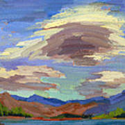 Papoose Lake And Clouds Poster