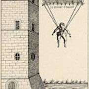 Parachute At Venice, Enabling  Descent Poster