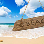 Paradise Beach Sign Algarve Portugal Poster