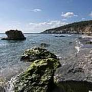 Binigaus Beach In South Coast Of Minorca Island Europe - Paradise Is Not Far Away Poster