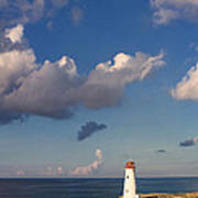Paradise Island Lighthouse Poster by Stephanie McDowell