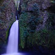 Paradise Pours Wanclella Falls Oregon Poster