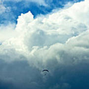 Paragliding In Changing Weather Poster by Viacheslav Savitskiy
