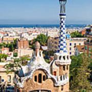Parc Guell Barcelona Antoni Gaudi Poster by Matthias Hauser