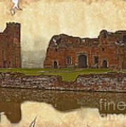 Parchment Texture Kirby Muxloe Castle Poster