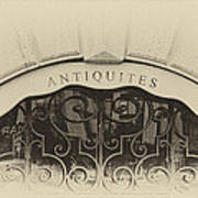 Paris Antique Store Sign Poster