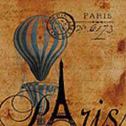 Paris By Postcard Poster